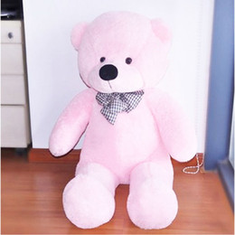 Wholesale Big Huge Cute - Hot Sale 100CM Cute Teddy Bear Pink Giant Big Cute Plush 100% Cotton Huge Soft Toy Gift#53446, dandys