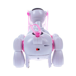 Wholesale Robotic Lights - Hot Sale Cool Robotic Cute Electronic Walking Pet Dog Puppy Cute Kid Toy Gift Music Light#55826, dandys