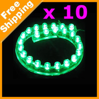 Vente en gros 10pcs-Vert flexible imperméable PVC 120 voiture lampe 120cm LED LED Light Strip # 1122