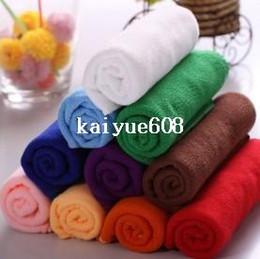 Wholesale Microfiber Towel Hair - Free shipping, (25 * 25cm) new 2014 color microfiber towel sterile towels, multi-functional, kitchen towel