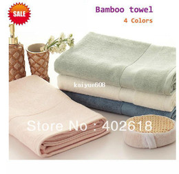 Wholesale Blue Bamboo Towels - (1PCS Lot), Bamboo towels 140x70cm Size,100%bamboo, 600gsm weight, Eco-friendly, white,pink,green,blue colors in stock