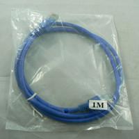 câble réseau utp cat5e achat en gros de-500pcs / lot 1M 3FT RJ45 CAT5 CAT5E câble réseau Ethernet LAN 3 pieds 1 m Cat5e UTP RJ45 câble réseau LAN Ethernet 350MHz 28AWG CCA PVC bleu