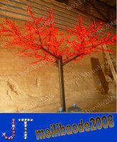 Wholesale Cherry Light Tree Green - 1,000pcs LED Bulbs Cherry Blossom Tree Light Red Blue Green Yellow White Pink Puple Optionally 2m 6.5ft Height Christmas Tree HSA0997