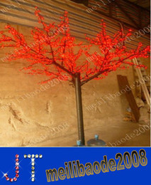 Albero bianco fiore di fiori online-1,000pcs LED Lampadine Cherry Blossom Tree Light Red / Blue / Green / Yellow / White / Pink / Puple Opzionalmente 2m / 6.5ft Altezza Albero di Natale HSA0997