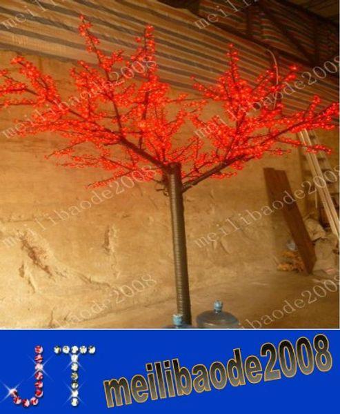 1.000 adet LED Ampuller Kiraz Çiçeği Ağacı Işık Kırmızı / Mavi / Yeşil / Sarı / Beyaz / Pembe / Puple Opsiyonel olarak 2 m / 6.5ft Yüksekliği Noel Ağacı HSA0997