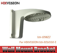 Wholesale Ip Camera Mounting Bracket - Hikvision DS-1258ZJ CCTV Accessories Plastic Wall Mount bracket IP camera bracket For HIkvision Dome Camera DS-2CD2132-I free shipping