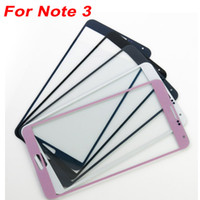 Wholesale Wholesale Pebble Glass - For Galaxy Note 3 Front Outer Screen Glass Lens Touch Screen Cover Replacement For Galaxy Note III N9000 White Pink Pebble Blue Black Gray