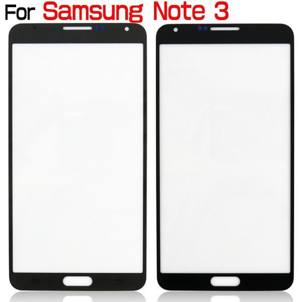 For Galaxy Note 3 Front Outer Screen Glass Lens Touch Screen Cover Replacement For Galaxy Note III N9000 White Pink Pebble Blue Black Gray