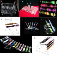 Wholesale Display Rack Case - Acrylic e cig display case electronic cigarette stand shelf holder rack for e cigarette e-cig ego battery vaporizer ecig ecigs mod drip tip