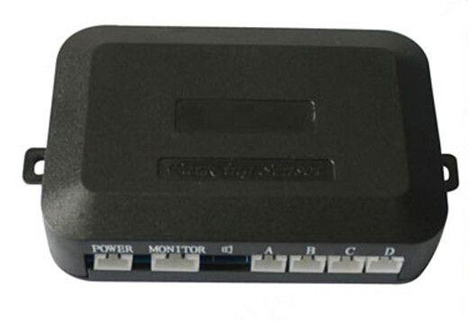 Датчик парковки автомобиля резервного копирования камеры четыре датчика заднего вида видео TFT DVD DVR монитор расстояние Биби сигнализации PZ600+403 64 цветов дрель AV кабель пост