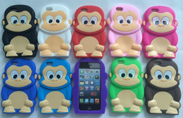 Wholesale Iphone Soft Monkey Case - 3D Cute Colorful Monkey King Case Cover for iPhone 6 4.7 inch High Quality Soft Silicon Case