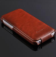 Wholesale Deluxe Iphone 5c Case - New Deluxe Retro Crazy Horse Pattern Case For iPhone 5C Leather Flip Cover Pouch Bags Luxury with Fashion Logo for iphone5c RCD