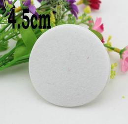 Wholesale Quilt Flowers - Wholesale 4.5CM 1000Pcs Round White Felt Circle Pads For Hair Flower Accessories DIY
