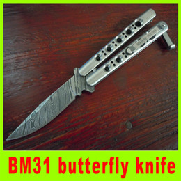 Wholesale Best Quality Knives - 201409 high quality the one BM31 balisong butterfly knife EDC Pocket Knife hunting knife camping knives best christmas gift 292L