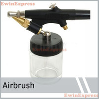 Wholesale Tattoos Airbrush Supplies - Airbrush Tattoo Supplies 2x NEW PRO MINI AIR BRUSH KIT ARTIST CRAFTS AIRBRUSH TOOL Free Shipping