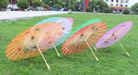 Wholesale White Umbrella Parasol Silk - Fashion Hot Chinese style silk wedding umbrella color vintage umbrella dance umbrella bamboo cytoskeleton