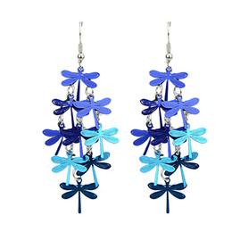 Wholesale Butterfly Dangle - Kayshine Jewelry Bohemian Style Coorful Butterfly Shape Drop Dangle Earrings