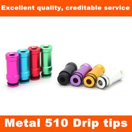 Wholesale Vivi Nova Ce7s Atomizer - Metal colorful Steel Drip Tips for DCT 510 vivi nova CE7 CE7S DCT UDCT Kayfun Ithaka Atomizer Mouthpiece