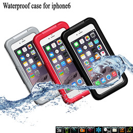 Wholesale Top Inches Phone - Free Shipping Top Quality Iphone 6 6 Plus 4.7 inch 5.5inch Waterproof Shockproof case Top Quality Phone Case Mutilcolor Cellophone Case