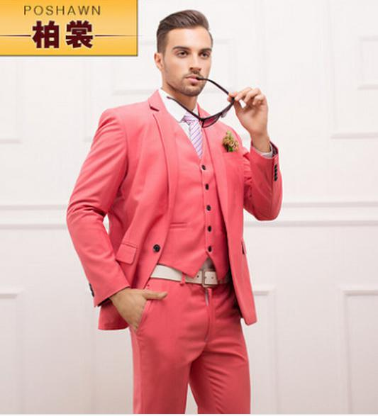 Good Quality!! Men Suits Slim Jackets   Pants   Vest Fashion Deep ...