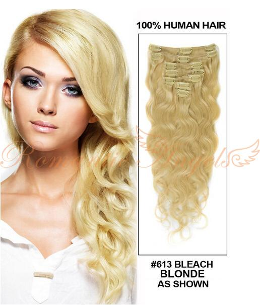 Romantic Angels 1424 Virgin Brazilian Wavy Clip In Hair