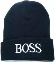 Wholesale Store Promotions - 1pcs cheap new brand BOSS designer knitted hat Winter men women beanie accessories promotion sale fashion Beanies brand caps times store
