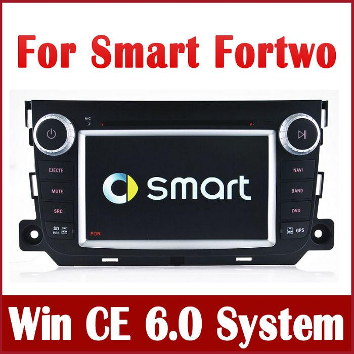 auto radio car dvd player gps navigation for smart fortwo. Black Bedroom Furniture Sets. Home Design Ideas