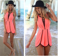 Wholesale Hot Sale Sexy Pant - New Fashion Summer Jumpsuits Women's Sexy Hollow Out Jumpsuit Sleeveless Hot Pants Lady's Shorts Playsuit Rompers top sale free shippin