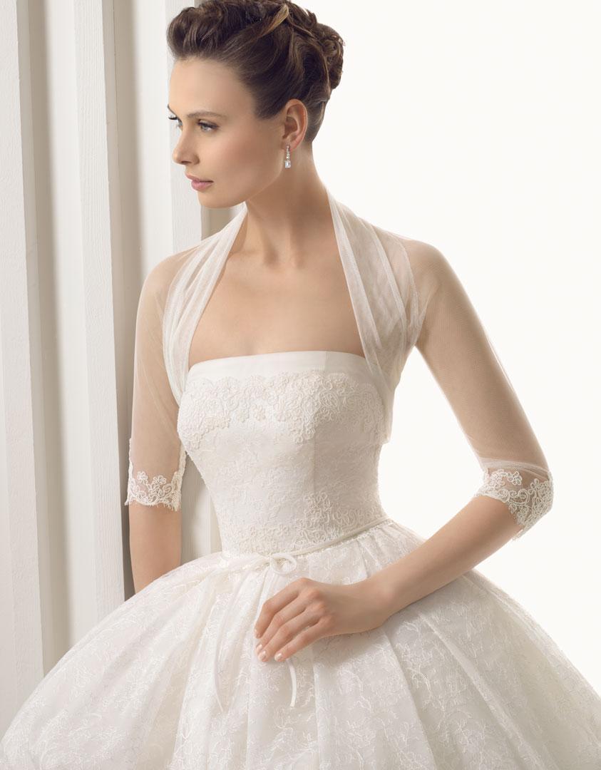 Elegant High Neck Wedding Accessories Bridal Jacket Bolero Tulle Merterial Shawl Wraps Custom Made Lace Long Sleeve Cape White/Ivory Shrug