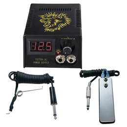 power grips pedals UK - Digital LCD Tattoo Power Supply + Foot Petal + Clip cord For Tattoo Gun Needle Ink Grip Kits