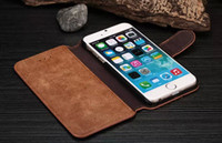 Wholesale Iphone 4s Credit Card Pouch - Luxury Retro vintage wallet Leather Case cover pouch with stand credit card Holder For iPhone 6 4.7 Plus 5.5inch 4S 5S wallet case