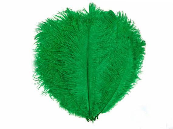 Darmowa Wysyłka 12-14 cali Kelly Green Strusi Feathers Centerpiece Decoration Party Event Stół Centerpiece Uroczysty Dekoracje