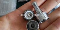 Wholesale Chrome Atomizer - Newest stillare dual coil Ceramic Cotton atomizer chrome V2 Rebuildable Dripping Atomizer RBA RDA Clone by Wax Tank Vaporizer D CORE RBA CIG