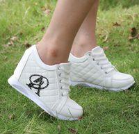 Wholesale Hid 35 - Hot Sales new 2014 Autumn Black White Hidden Wedge Heels Casual shoes Women's Elevator High-heels Sneakers Size:35-39