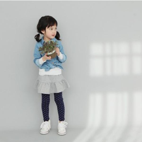 Kids Girl Polka Dot Tights Cotton Pant 2-8Y Toddler Baby Pants Classic LKM118 Drop shipping