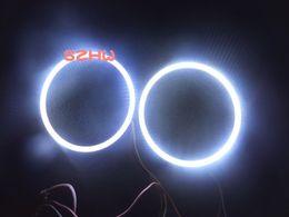 80 мм Внешний диаметр, 70 мм Внутренний диаметр, 2 шт. / лот, супер яркий водонепроницаемый светодиодные глаза ангела кольца, Q5 Hella, 45leds COB объектив большая лампа от