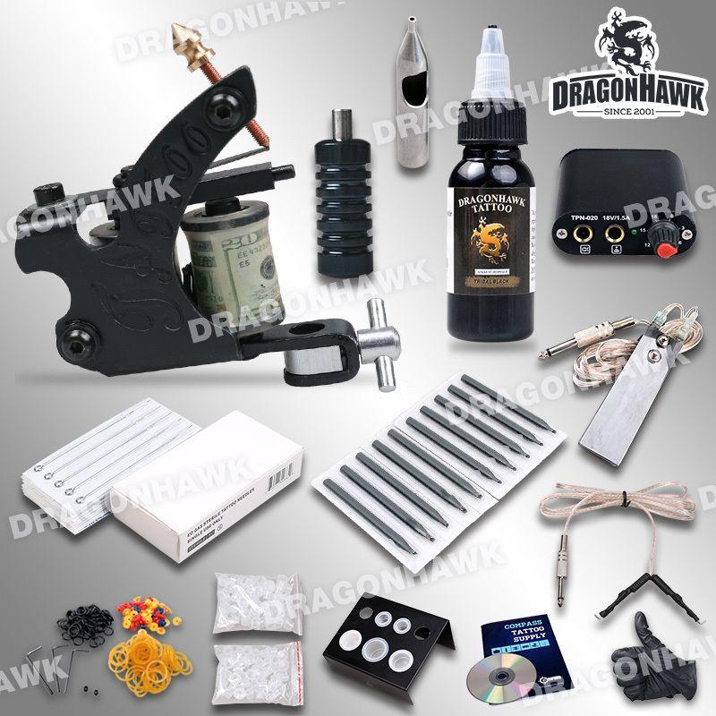 Wholesale complete beginner tattoo kit machine guns inks for Tattoo supplies wholesale