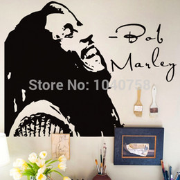 Wholesale Bob Marley Quote Vinyl - Bob Marley Wall Stickers Home Decor Don't Worry Bout Vinyl Wall Decals Wall Quotes Decoration Adesivo De Parede Wall Paper