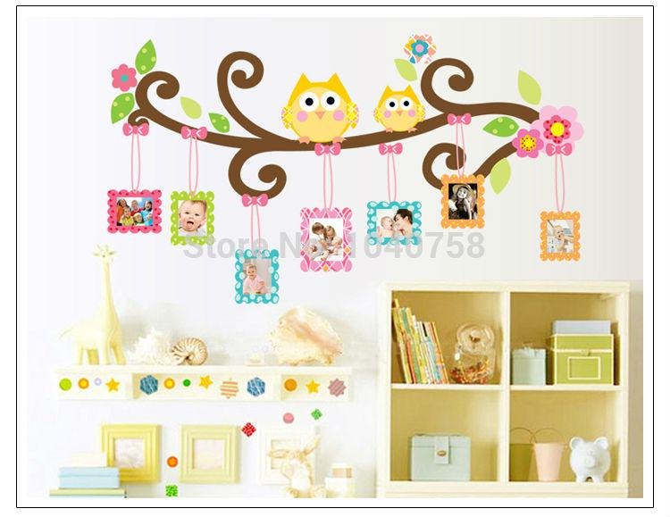 High Quality Pvc Owl Wall Sticker Photo Frame Home Decoration Family Tree Wall Decal  Photoframe Decorative Wall Art Poster Wall Paper Kids Sticker On Wall Decor  Sticker ...