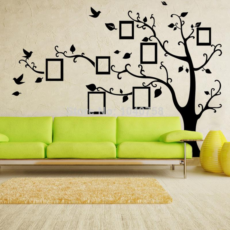 X Large Photo Frame Family Tree Wall Decal Tree Wall Sticker Photoframe  Wallpaper Kids Poster Home Decoration Left Facing Home Decor Stickers Wall  Home ...