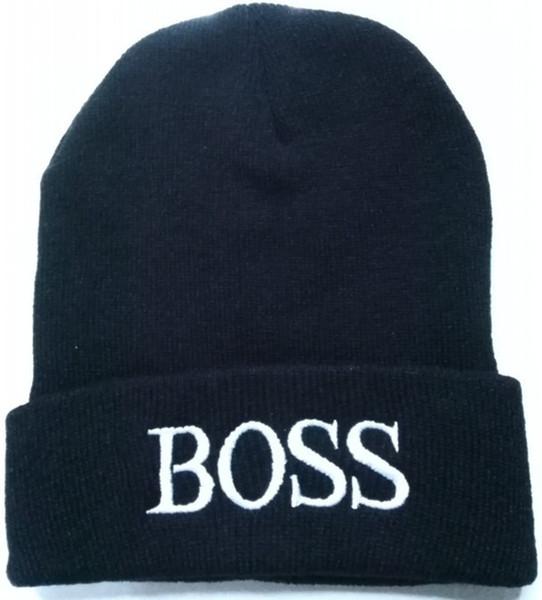 10pcs lot 2017 brand BOSS custom beanies knitted hat Winter men women beanie  accessories promotion sale 8c47d642832c