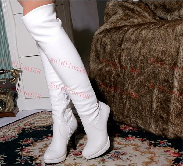 tout nouveau mode cor enne sexy longues jambes cuir doux hiver chaud leurs bottes talons hauts. Black Bedroom Furniture Sets. Home Design Ideas