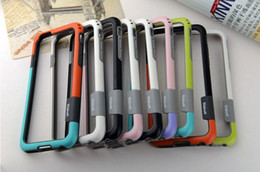 "Wholesale Iphone Case Bumper Silicon - Frame Case for iphone 6 Dual Color soft Gel Silicon Frame Bumper border Protective Case cover For New 4.7""iPhone6 i6 iPhone 6 6G"
