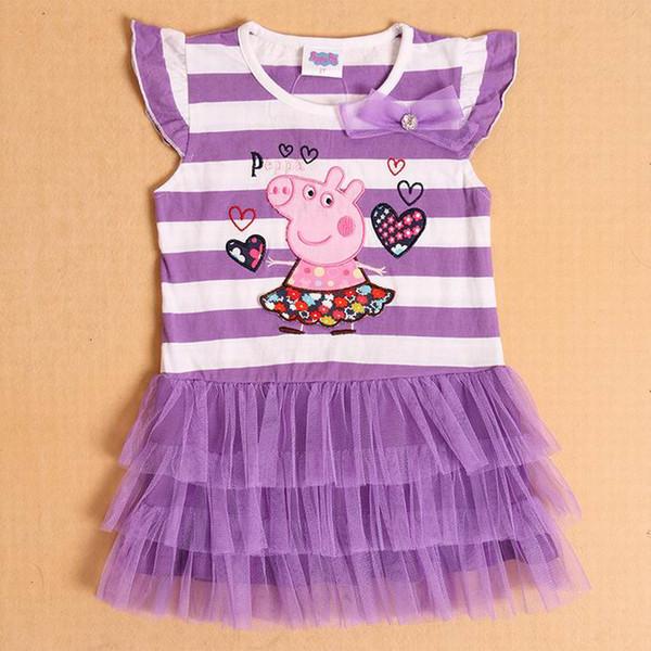 Peppa Pig Girl/'s Short Sleeved Dress 1 to 6 Years