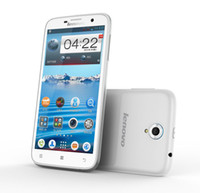 Smartphone 4,2 Zoll Kaufen -Freigesetzter Lenovo A850 3G Smart Handy 5,5 Zoll Quad Core 4 GB Android 4.2 Dual-Kamera Dual SIM Weiß