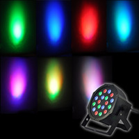 Wholesale Led Bar Rgb Dmx - 25W colorful DMX-512 Stage Light DJ Bar Club KTV Party Disco RGB LED PAR Light AC 90-240V 7 Channel Laser Projector Lighting EU US Plug