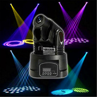 Wholesale Lamp Mini Led Moving Head - 15W Mini DMX Led Lamp RGB Moving Head Lights Spot Lighting For Club DJ KTV Party DMX Controller Stage Lights Stage Lighting Effects