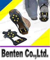 Wholesale Studded Shoes Wholesale - LLFA7362 Free shipping Outside Over Shoe Studded Snow Grips Ice Grips Anti Slip Snow Shoes Crampons Cleats