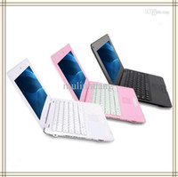 Wholesale Android Laptop 1gb - 10.1 inch WM8880 Dual Core Android 4.2 Mini Laptop Netbook 1GB RAM 8GB ROM Camera WiFi RJ45 Ethernet Lan Port HDMI 10 VIA8880 8880 MQ5