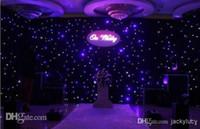 controlador blanco al por mayor-Lujo Azul-Blanco Color LED Telón de Fondo de la Etapa de la boda de la Cortina de la Boda con Controlador DMX512 Para La Boda Suministros de Decoración